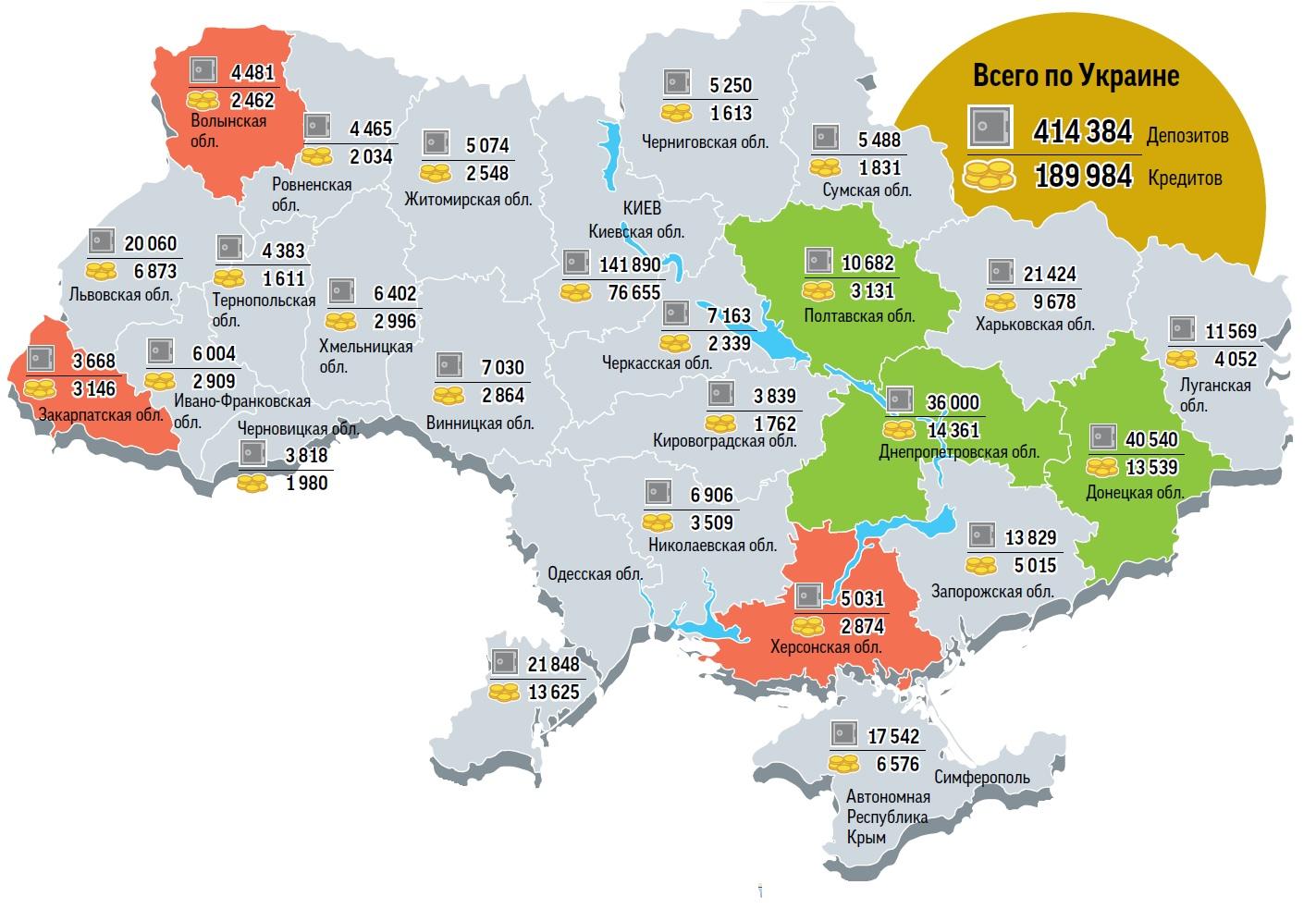 Депозитная карта Украины