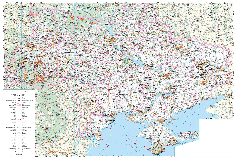 Карта дорог Украины
