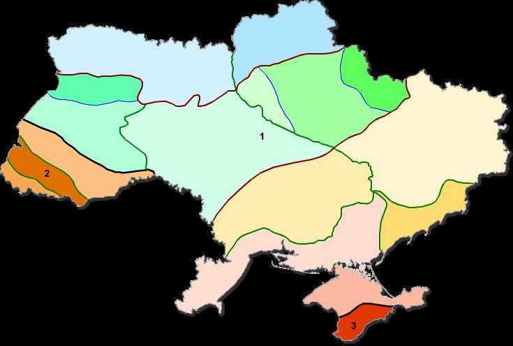 Карта водных ресурсов Украины