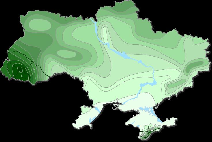 Средний годовой сток рек Украины