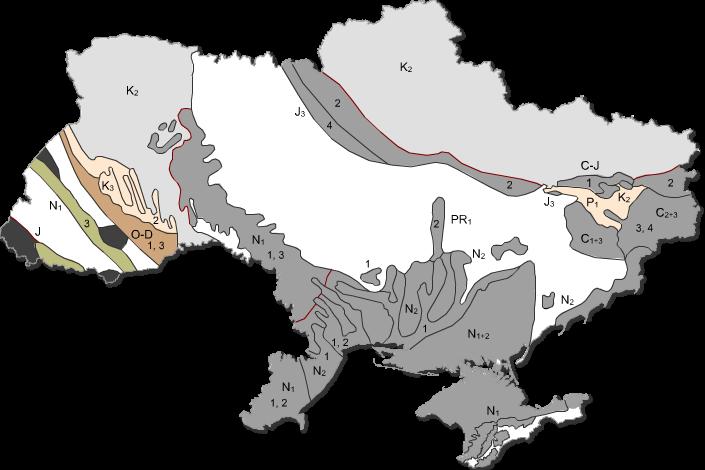 Карта карста в Украине