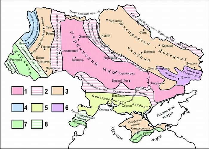 Тектоническая карта Украины