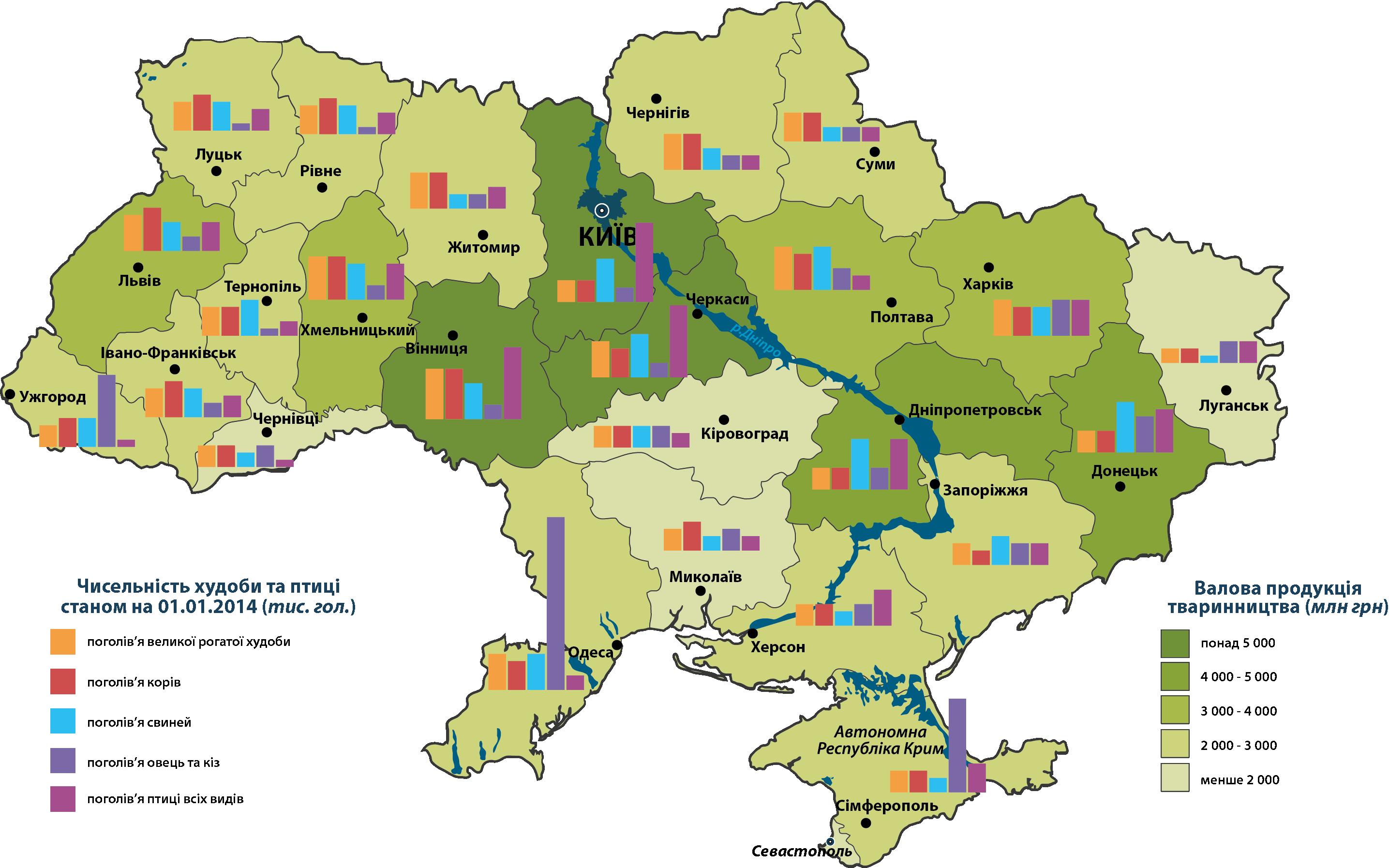 Животноводство в Украины
