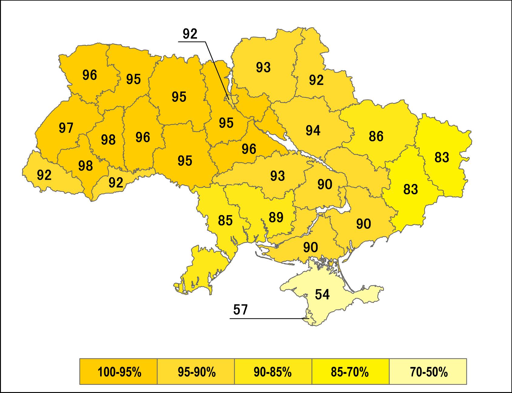 Карта референдума 1991 года